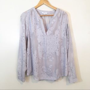 Katherine Barclay Textured Floral Print Blouse